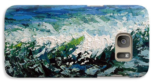 Galaxy Case featuring the painting Study Of A Wave by Suzanne McKee