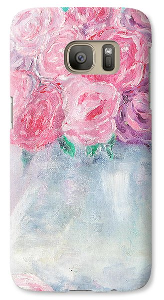 Galaxy Case featuring the painting Study  by Reina Resto