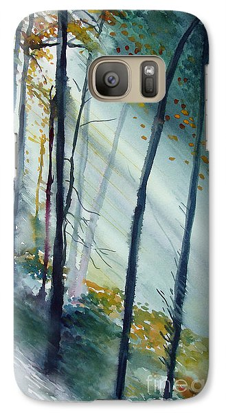 Galaxy Case featuring the painting Study The Trees by Allison Ashton
