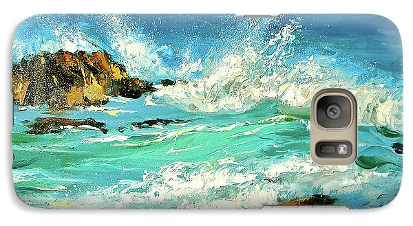 Galaxy Case featuring the painting Study Wave by Dmitry Spiros