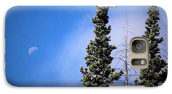 Galaxy Case featuring the photograph Subalpine Fir With Moon by Deborah Moen