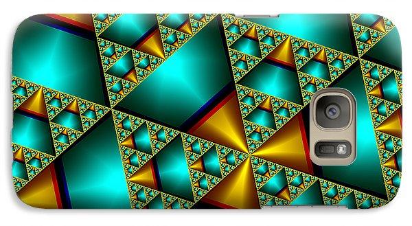 Galaxy Case featuring the digital art Sublime Sierpinski Fractal by Manny Lorenzo