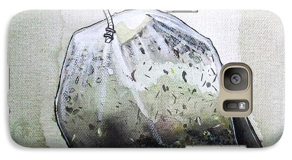 Galaxy Case featuring the painting Submerged Tea Bag by Mary Ellen Frazee