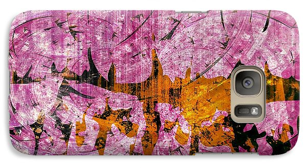 Galaxy Case featuring the mixed media Submit A Dance   by Fania Simon