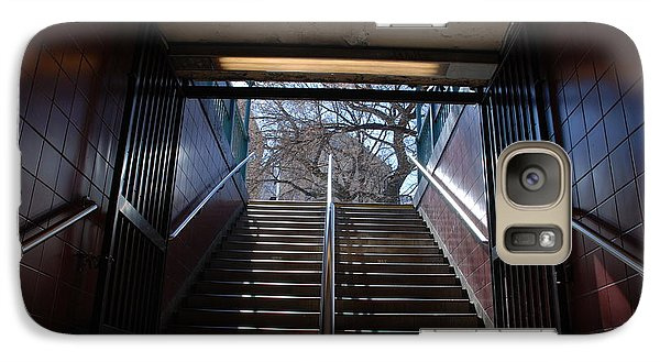 Galaxy Case featuring the photograph Subway Stairs To Freedom by Rob Hans