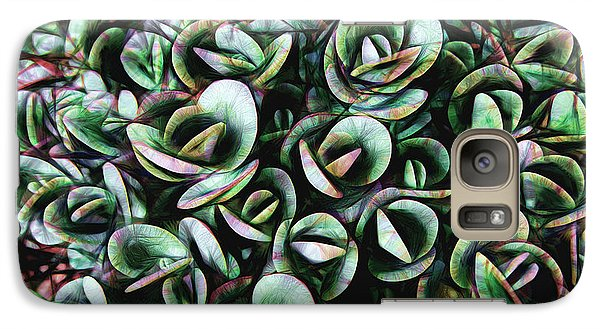 Galaxy Case featuring the photograph Succulent Fantasy by Ann Powell