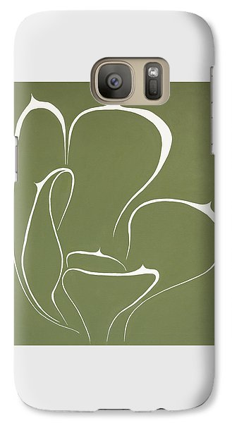 Galaxy Case featuring the painting Succulent In Green by Ben Gertsberg