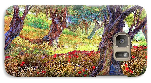 Daisy Galaxy S7 Case - Tranquil Grove Of Poppies And Olive Trees by Jane Small