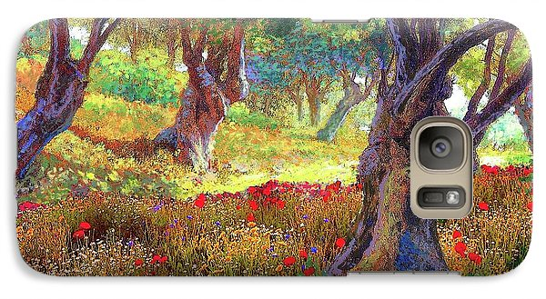 Tranquil Grove Of Poppies And Olive Trees Galaxy S7 Case