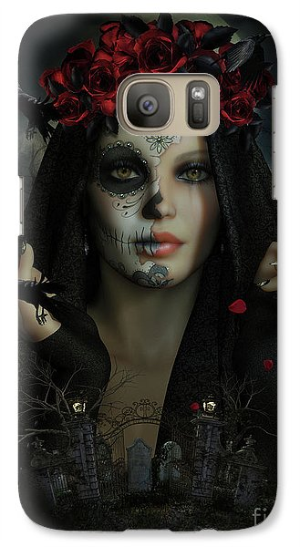 Galaxy Case featuring the digital art Sugar Doll Magic by Shanina Conway