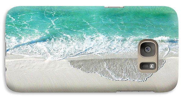 Galaxy Case featuring the photograph Sugar Sand Beach by Lizi Beard-Ward