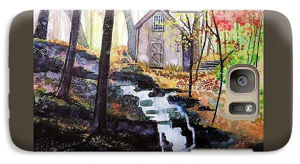 Galaxy Case featuring the painting Sugar Shack by Tom Riggs