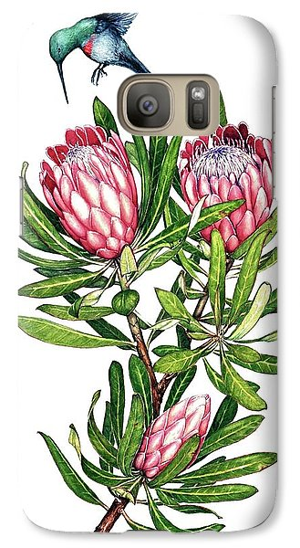 Galaxy Case featuring the painting Sugarbush And The Humming Bird by Heidi Kriel