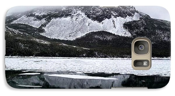 Galaxy Case featuring the photograph Sugarloaf Hill Reflections In Winter by Barbara Griffin