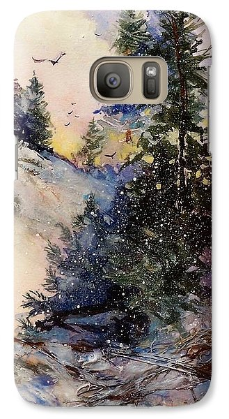 Galaxy Case featuring the painting Sugarpines by Helen Harris