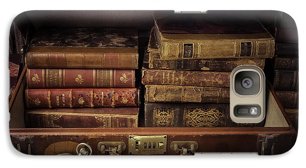 Suitcase Full Of Books Galaxy Case by Garry Gay