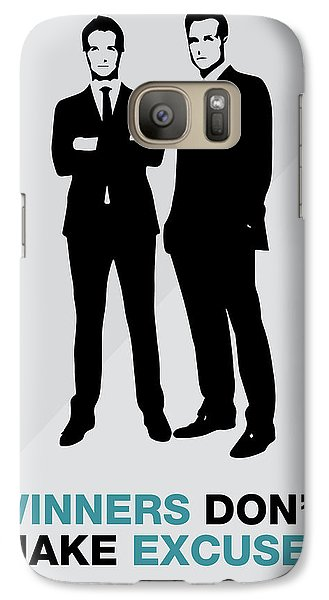 Suits Tv Show Poster Harvey Quote - Winners Don't Make Excuses Galaxy S7 Case
