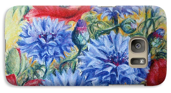 Galaxy Case featuring the painting Summer Abundance by Rosemary Colyer