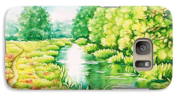 Galaxy Case featuring the painting Summer Along The Creek by Inese Poga