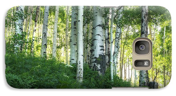 Galaxy Case featuring the photograph Summer Aspen Forest by Tim Reaves