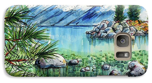 Galaxy Case featuring the painting Summer At Lake Tahoe by Terry Banderas