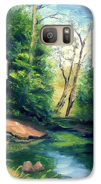 Galaxy Case featuring the painting Summer At Storm by Gail Kirtz