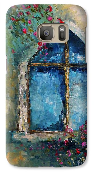 Galaxy Case featuring the painting Summer At The Old Castle by AmaS Art