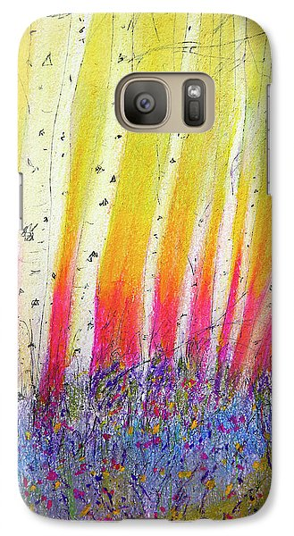Galaxy Case featuring the pastel Summer Birch  by Linde Townsend