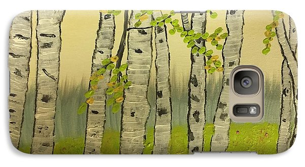 Galaxy Case featuring the painting Summer Birches by Paula Brown