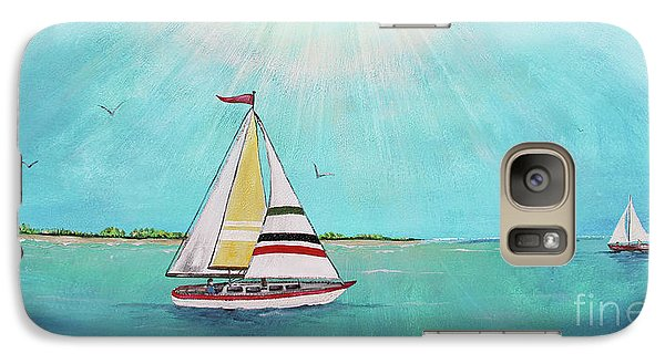 Galaxy Case featuring the painting Summer Breeze-b by Jean Plout