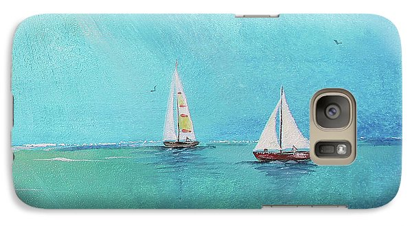 Galaxy Case featuring the painting Summer Breeze-e by Jean Plout