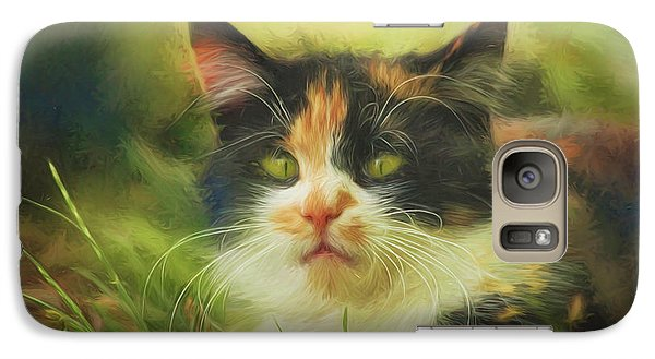 Galaxy Case featuring the photograph Summer Cat by Jutta Maria Pusl