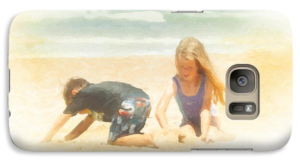 Galaxy Case featuring the painting Summer by Chris Armytage