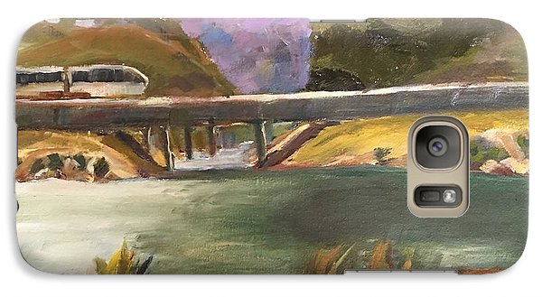 Galaxy Case featuring the painting Summer Day At Carlsbad by MaryAnne Ardito