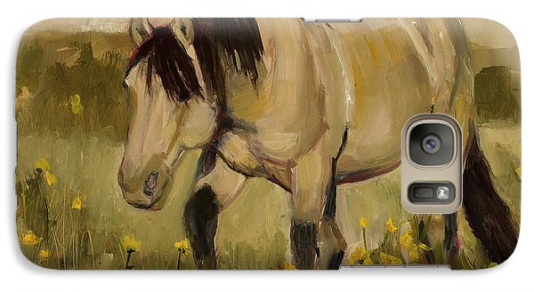 Galaxy Case featuring the painting Summer Days by Billie Colson