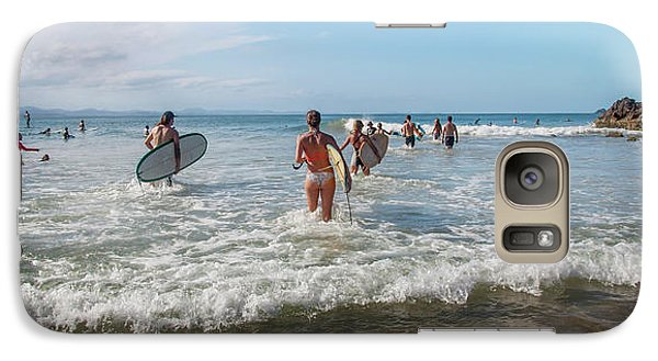 Galaxy Case featuring the photograph Summer Days Byron Waves by Az Jackson