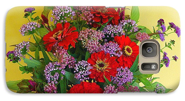 Galaxy Case featuring the photograph Summer Flower Bouquet by Byron Varvarigos