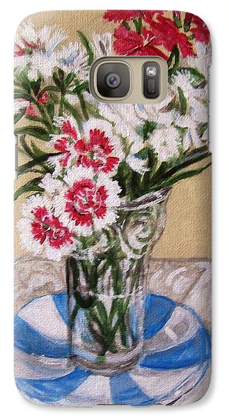 Galaxy Case featuring the painting Summer Flowers by Laura Aceto