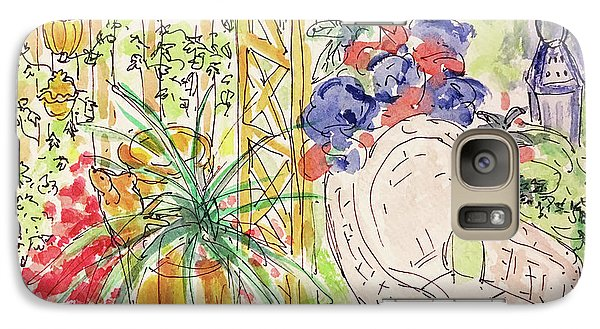 Galaxy Case featuring the drawing Summer Garden by Barbara Anna Knauf