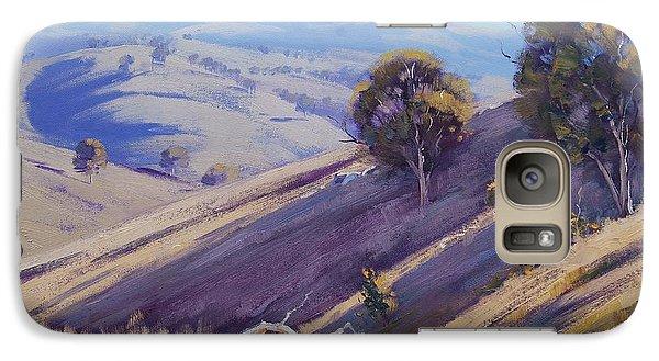 Realistic Galaxy S7 Case - Summer Hillside, Mudgee by Graham Gercken