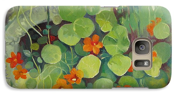 Galaxy Case featuring the painting Summer In The Garden by Elena Oleniuc
