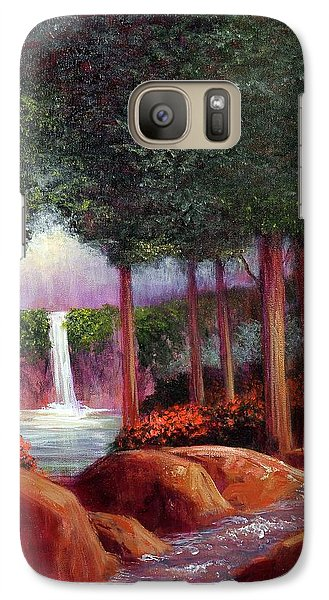 Galaxy Case featuring the painting Summer In The Garden Of Eden by Randol Burns
