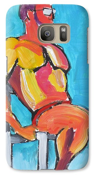 Galaxy Case featuring the painting Summer Lifeguard by Shungaboy X