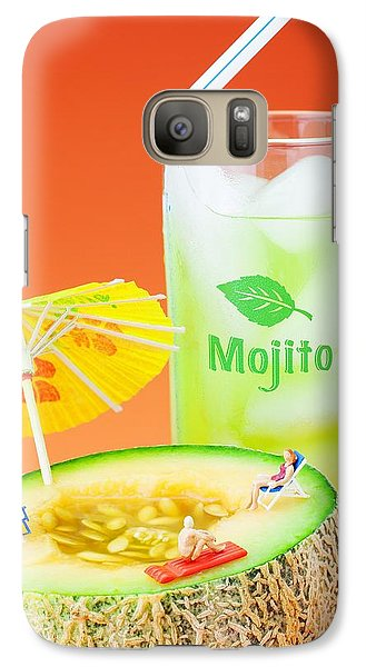 Galaxy Case featuring the photograph Summer Memory Little People On Food by Paul Ge