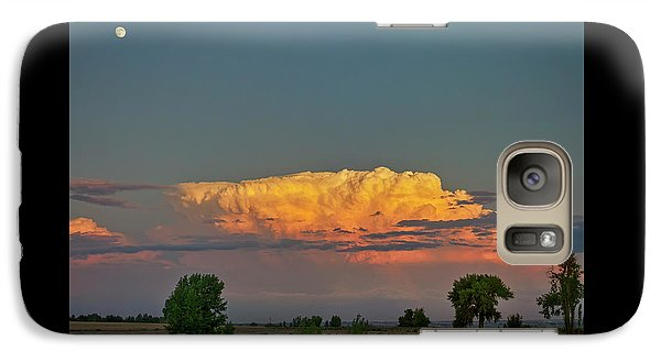 Galaxy Case featuring the photograph Summer Night Storms Brewing And Moon Above by James BO Insogna