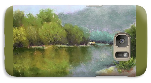 Galaxy Case featuring the painting Summer On The River by Nancy Jolley