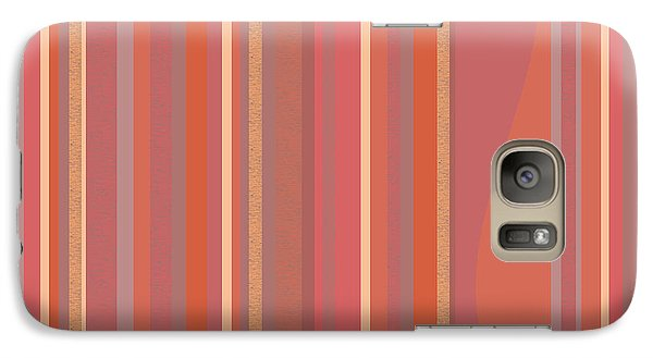Galaxy Case featuring the digital art Summer Peach by Val Arie