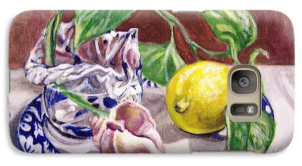 Galaxy Case featuring the painting Summer Plate by Laura Aceto
