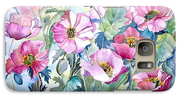 Galaxy Case featuring the painting Summer Poppies by Iya Carson