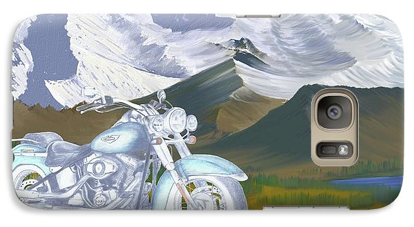 Galaxy Case featuring the drawing Summer Ride by Terry Frederick